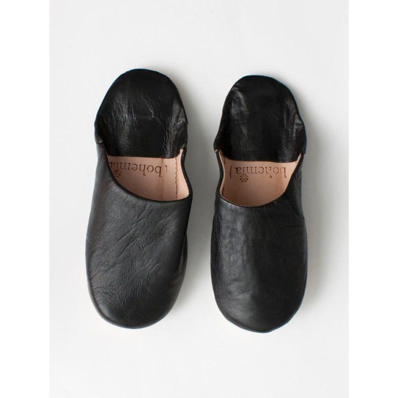 Bohemia-Moroccan-Babouche-Basic-Slippers-Black