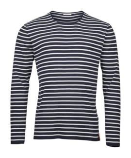 Knowledge Cotton Apparel Rib Knit Striped