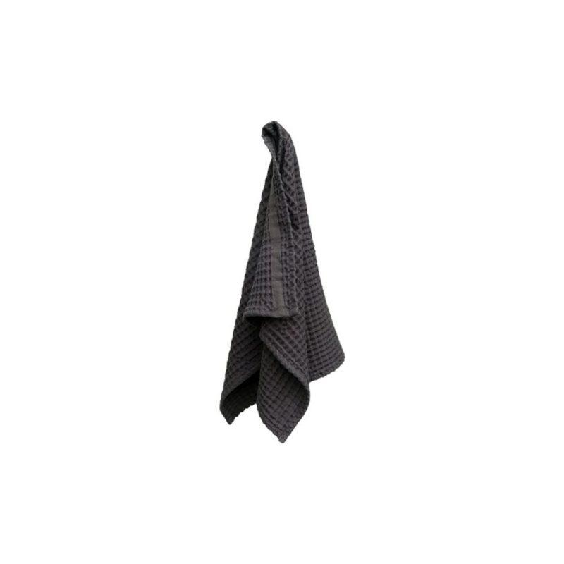 The Organic Company Big Waffle Hand Towel Dark Grey