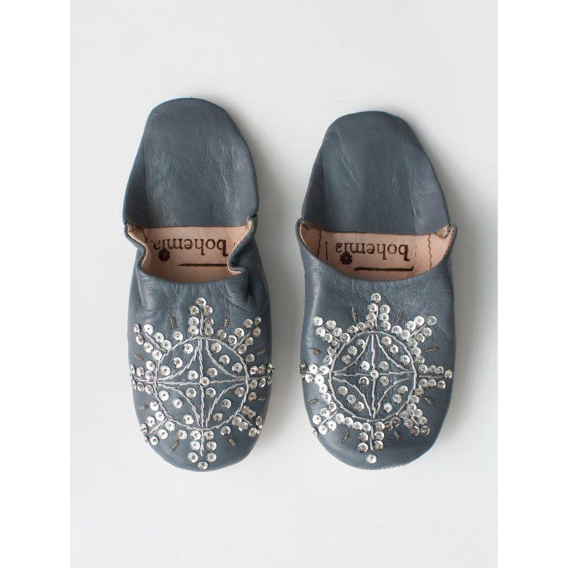 Bohemia-Babouche-Sequin-Slippers-Slate-Grey
