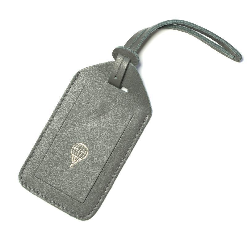 Gauhar leather name tag graphite