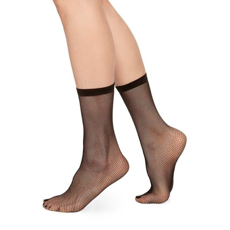 Swedish Stockings Liv Net Sock Black